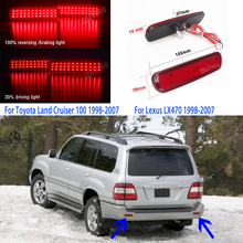 For Toyota Land Cruiser 100 for Lexus LX470 2pcs Car LED Rear Bumper Reflector R