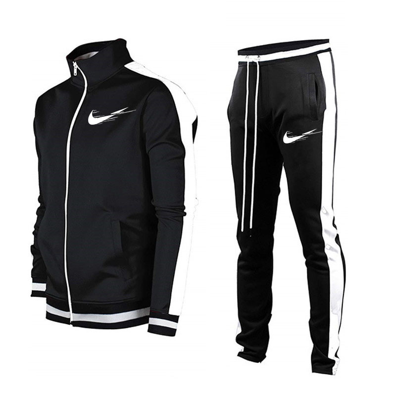 Спортивный костюм Мужской Быстросохнущий, кофта на молнии, брендовый комплект для фитнеса и бега, спортивный костюм, весна