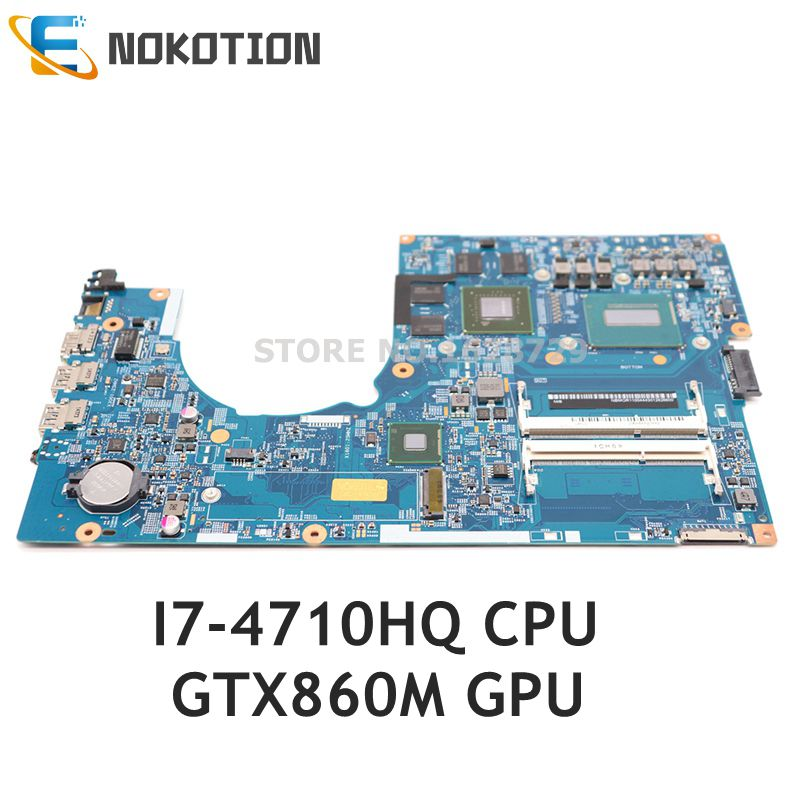 NOKOTION Laptop Motherboard For Acer Aspire VN7-791 VN7-791G 448.02G08.001M NBMQR11004 NB.MQR11.004 I7-4710HQ CPU GTX860M GPU