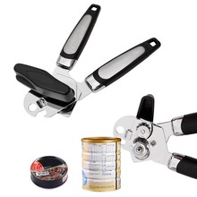 Stainless Steel Manual Can Opener Multifunction Tin Canned Food Opener Side Cutter Beer Bottle Opening Kitchen Tools Gadget#Y5