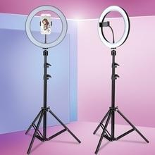 Студийный кольцевой светильник для камеры 6,3 дюйма/10,2 дюйма со стойкой, светодиодный кольцевой светильник для видеосъемки, кольцевая лампа ...