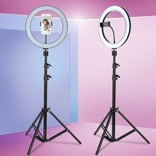 6.3 ''/10.2'' kamera Studio Ring Licht Mit Stand Video LED Schönheit Ring Licht Fotografie Dimmbare Ring Lampe + stativ für Selfie