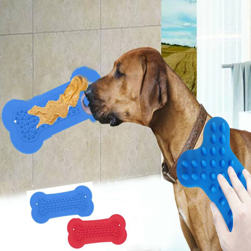 Dog Feeding Lick Mat Pet Dog Feeder Bowl For Bath Distraction Easy Grooming In Shower Tub Sink Toy Puppy Dog Washing Supplies