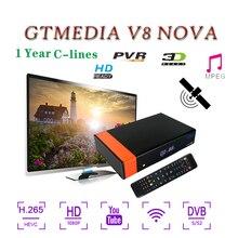 Receptor Gtmedia V8 Nova Built-in WIFI FULL HD 1080P Support PVR Ready Network Sharing DVB-S2 satellite receiver for cccam cline цена