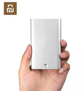 Image 1 - Orijinal Youpin kart durumda otomatik Pop Up erkekler iş kart tutucu İnce alüminyum kart durumda kredi kartı kimlik kartı depolama kaleci