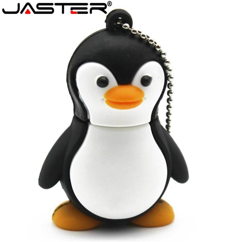 JASTER Cartoon Personality 64GB Cute Penguin USB Flash Drive 4GB 8GB 16GB 32GB Pendrive USB 2.0 Usb Stick