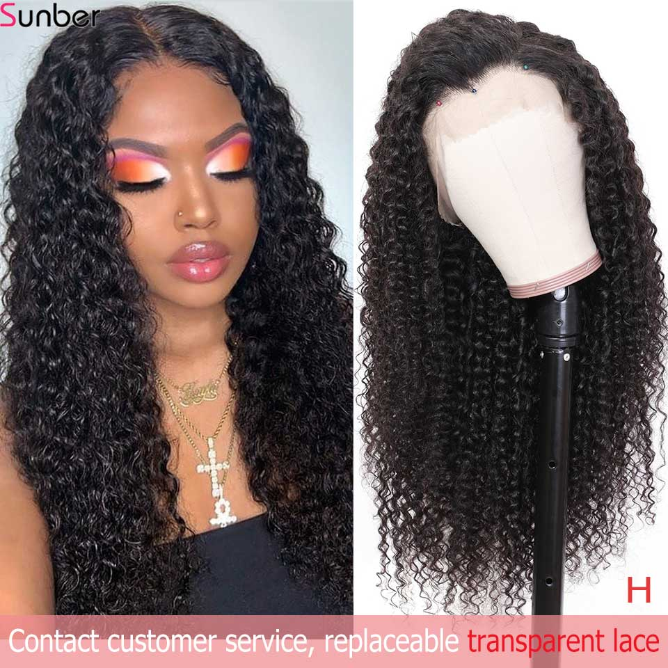 Sunber Peruvian Deep Curly Lace Wig Pre-Plucked 10-24'' 13x4/6 150/180% Density High Remy Lace Front Human Hair Wigs For Women