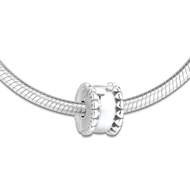 Autentico 925 Sterling Silver Perline Hearts Clip di Fascino Misura Branelli Pandora Braccialetto Pendenti E Ciondoli Donne Gioielli FAI DA TE kralen Commercio All'ingrosso