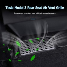 Model3 Tesla Car Under Seat Air Outlet Cover For Tesla Model 3 Accessories Outlet Mask Tesla Model 3 2020 No Double Sided Tape