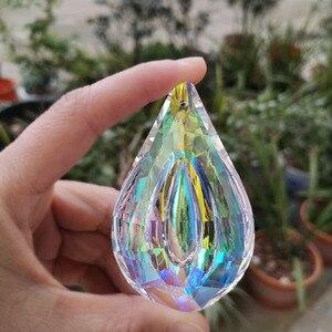 Image 3 - Atrapasueños de cristal colorido, colgante de níspero, Prisma para lámpara, piezas, adornos colgantes, decoración del banquete de boda, figurita