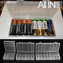 すべてで電池ホルダー収納ボックス2 4 8 aa aaa 18650 26650 16340充電式バッテリーコンテナオーガナイザー