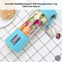 USB Recarregável Portátil Liquidificador Fácil Mini Juicer Multi-Função de Carregamento USB Xícara de Suco de Copo de Mistura de Suco de Frutas Elétrico