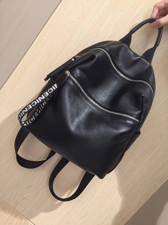 Kafunila genuine leather backpack women real leather laptop high quality large capacity travel school bag bolsa feminina mochila