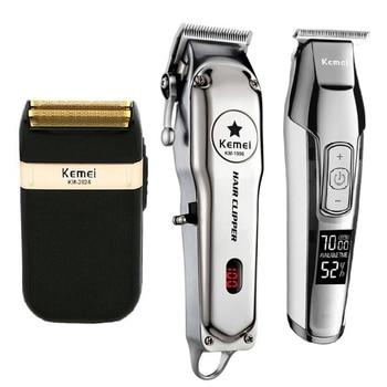 Kemei All Metal Professional Electric Hair Clipper Rechargeable Hair Trimmer Haircut Shaving Machine Kit KM-1996 KM-5027 KM-2024 сверло km 38 d3