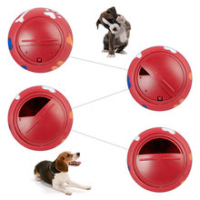 Pet Dog Food Dispenser Feeder Holder Giggle Ball Chew Treat Trainning Toy Mascotas Cachorro Chien Perros Honden Hond(China)