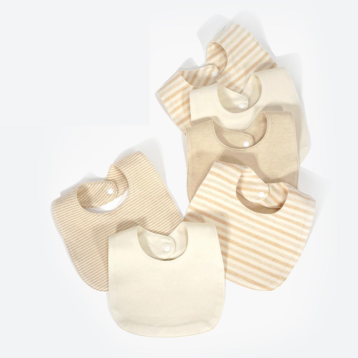 Baby Speichel Handtuch Einfarbig Acht-stück Neugeborenen Bib Reis Tasche Snap Baumwolle Kleinkind Jungen Mädchen Fütterung Liefert 23.5*18,5 cm