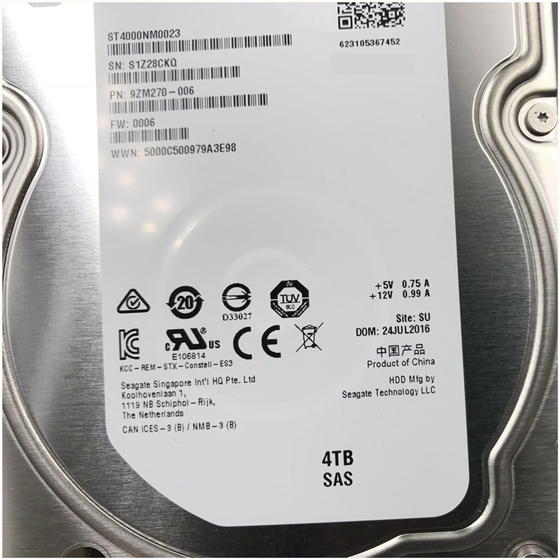 """New HDD For Seagate/Dell Brand 4TB 3.5"""" SAS 6 Gb/s 128MB 7200RPM For Internal HDD For Enterprise Class HDD For ST4000NM0023 3"""