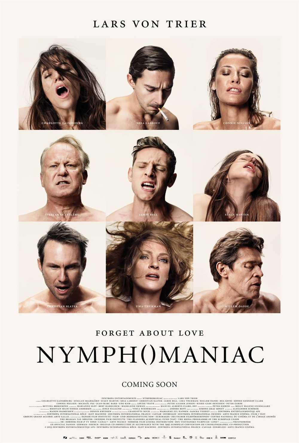 NYMPHOMANIAC фильм Кристиан Слейтер ума Турман Шелковый плакат декоративной живописи 24x36 дюймов - Цвет: Белый