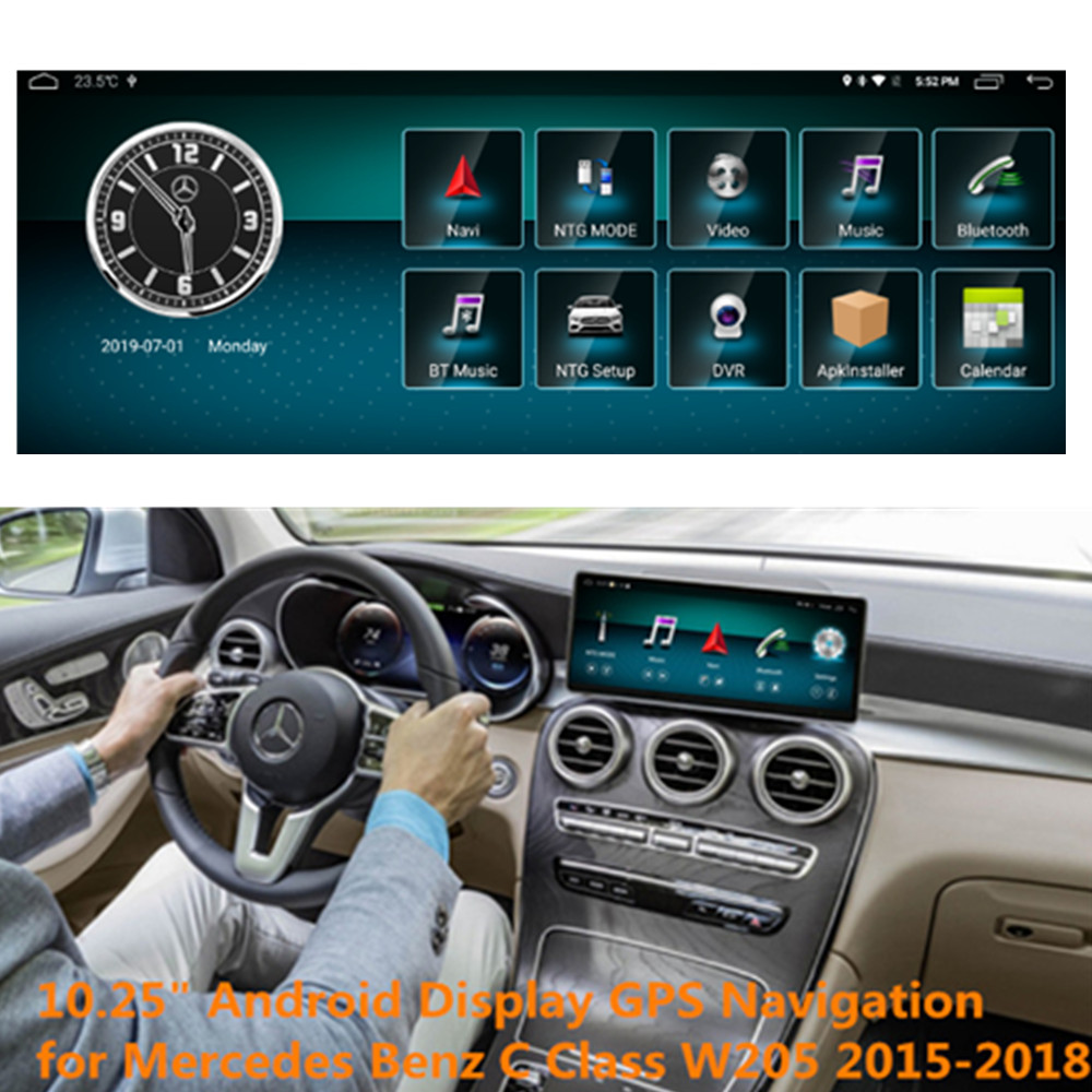 <font><b>10.25</b></font> <font><b>inch</b></font> Car <font><b>Android</b></font> GPS Navigation for Mercedes <font><b>Benz</b></font> GLC C Class W205 2015-2018 with Multimedia bluetooth wifi Touch Screen image