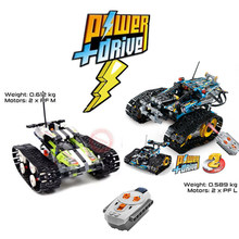 NEW  Electric Motor Power Function RC TRACKED RACER TECHNIC Car Fit Legoings Technic Car Building Kits Block Bricks DIY Toy Gift technic series 42065 radio controlled tracked racer set race car tank legoinglys building block brick toy technic lepin 20033