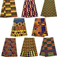 100% algodão garantido cera real áfrica ancara impressão kente tecido costura vestido tissu retalhos fazendo artesanato tanga qualidade superior