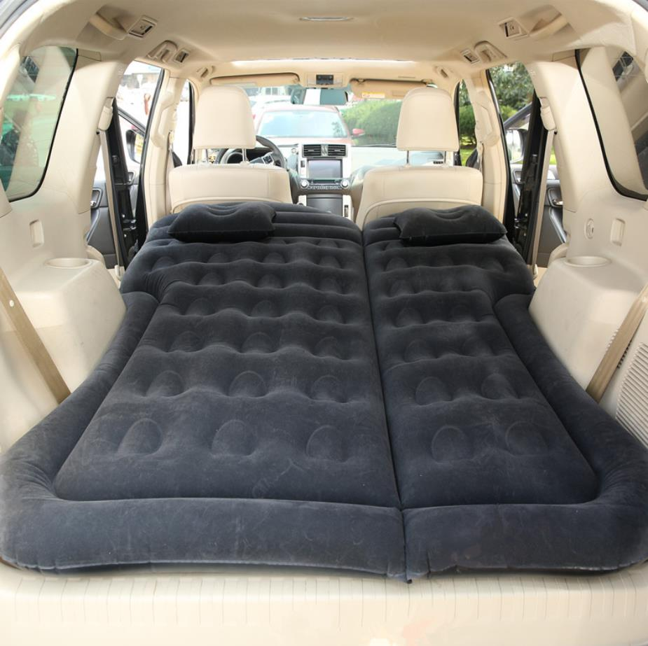 Car SUV Air Inflatable Travel Bed Mattress Back Seat Sofa Pillow Camping Mat Cushion Outdoor Beach Rest Sleeping Pad Universal (11)