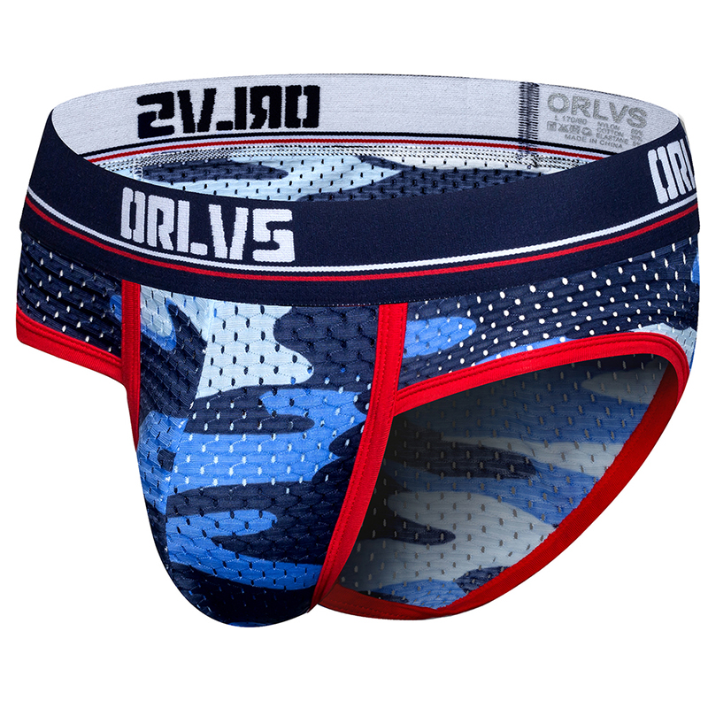 ORLVS Brand Male Underwear Sexy Gay Jockstrap Men Briefs Male Panties Cueca Tanga Slip Homme Kincker For Gay Ropa Interior Men