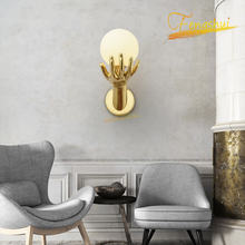 Креативная медсветодиодный светодиодная настенная лампа в скандинавском