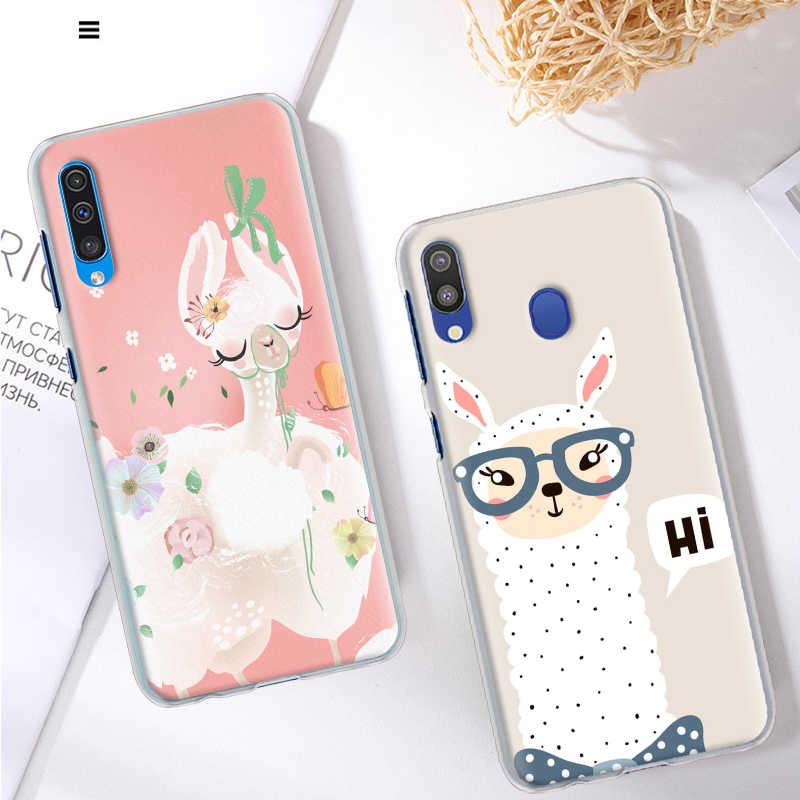 Carino Alpaca Llama per il Caso di Samsung Galaxy A50 A70 A51 A71 5G A11 A31 A21 A91 A10 A10e A20 a30 A40 Duro Della Copertura Capa