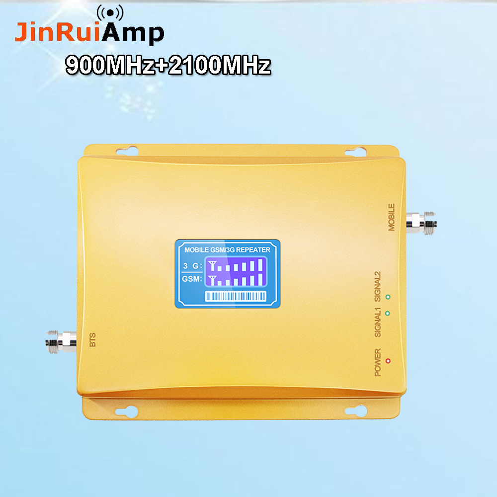 Russia 2G GSM Repeater 900 3G 2100 Cell Phone Signal Repeater Cellular Booster GSM WCDMA UMTS 2100 2G 3G 4G Signal Antenna