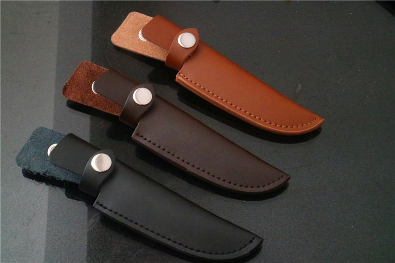 Genuine Leather Sheath Protective Case Cover for Fixed Blade Knife(China)