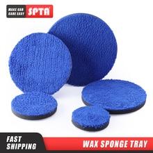 (Bulk Sale) SPTA 3/4/5/6/7 Inch Microfiber Polishing Pad Removing Wax Buffer Pads Replaceable Buffing Pads for DA/RO Polisher