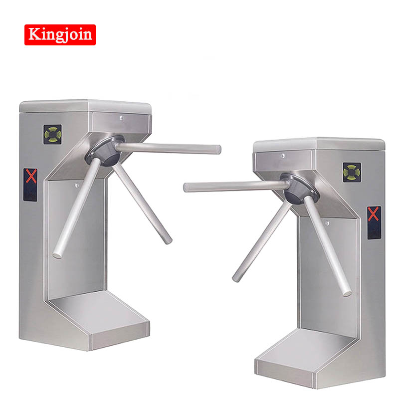 Turnstile Atuo Gate Stainless Steel Waist High Tripod Turnstile Gate For Pedestrian Access Control With LED Indicator