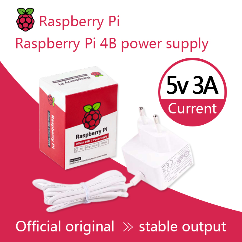 Raspberry Pi 15.3W USB-C Power Supply The Official And Recommended USB-C Power Supply For Raspberry Pi 4