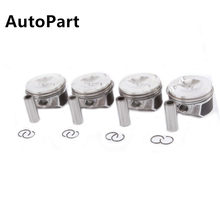 06H107065AM OEM Piston & Piston Ring Set For Audi A4 Q5 TT VW Passat Tiguan Jetta Golf 2.0T Pin 21mm 06J198151B 06H 198 151 J(China)
