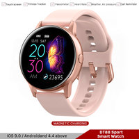 DT88 Smartwatch For Man Women IP68 Sport Pedometer Tracker Blutooth Smart Watch for Iso Android Samsung Huawei Phone PK R500 P68