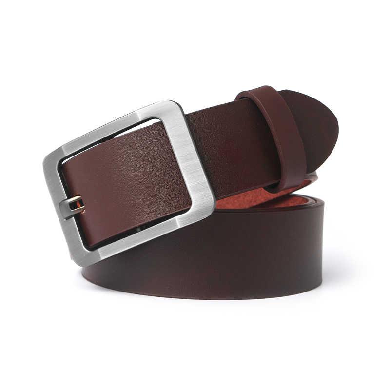 Pantaloni cinghia maschio della cinghia di cuoio degli uomini della cinghia maschio cinturino in vera pelle cinghia di cuoio genuina degli uomini ceinture homme cuir vero e proprio