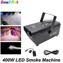 цена на Remote Control LED 400W Fog Smoke Machine RGB 3IN1 Smoke Machine LED DJ Party Bar Stage Light Smoke Thrower Disco Laser Light