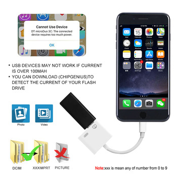 2019 New OTG Digital Adapter for Lightning to USB 3 Camera Reader Charge Connection Kits Data Sync for iPhone X/XS/8 P/7/7P/6/6S 1