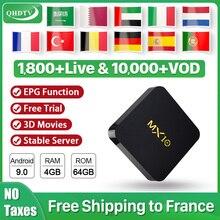Arabic IPTV France Subscription 1 Year QHDTV Code MX10 4+64G Android 9.0 RK3328 IPTV Belgium Dutch French Arabic IP TV QHDTV mx10 arabic france iptv subscription 4 64g android 9 0 rk3328 qhdtv 1 year iptv netherlands belgium italian algeria ip tv box