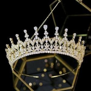 Image 5 - High quality crystal crown girl birthday graduation ceremony crown bride wedding hair accessories headdress Tiaras