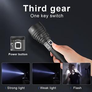 Image 3 - 400000lm Mạnh XHP90.3 Đèn Pin Led 18650 USB Sạc Tay Đèn Chiến Thuật Sáng XHP90 Zoom Đèn Pin Săn Bắn Lồng Đèn