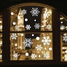 Autocollant flocon de neige blanc en vinyle, 48 pouces, pour fenêtre, cadeaux de noël