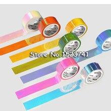 5 м Лазерная Блестящая Бумага васи лента конфетных цветов декоративная клейкая маскирующая лента для скрапбукинга девушки альбомы Сделай Сам канцелярская лента