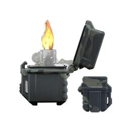 Tactical Lighter Shell futerał do przechowywania lżejszy pojemnik Organizer do Zippo bojler Outdoor Camping narzędzie survivalowe A