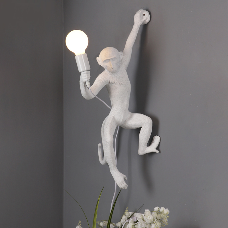 Nordic Monkey Lamp  Modern Resign Wall Light Indoor Vintage Loft  Art Decor Wall Lighting Fixture