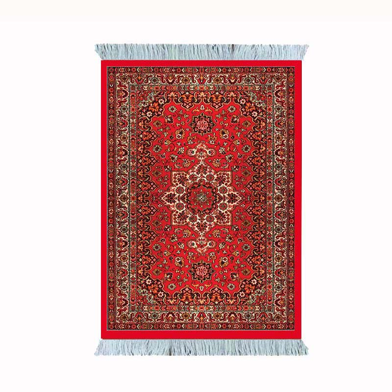 Large <font><b>Mouse</b></font> Pad Persian Carpet Laptop <font><b>Gaming</b></font> Pc Mechanical <font><b>Keyboard</b></font> <font><b>Mousepad</b></font> Edge White Tassel Rubber Table Mat for Pet Mat image