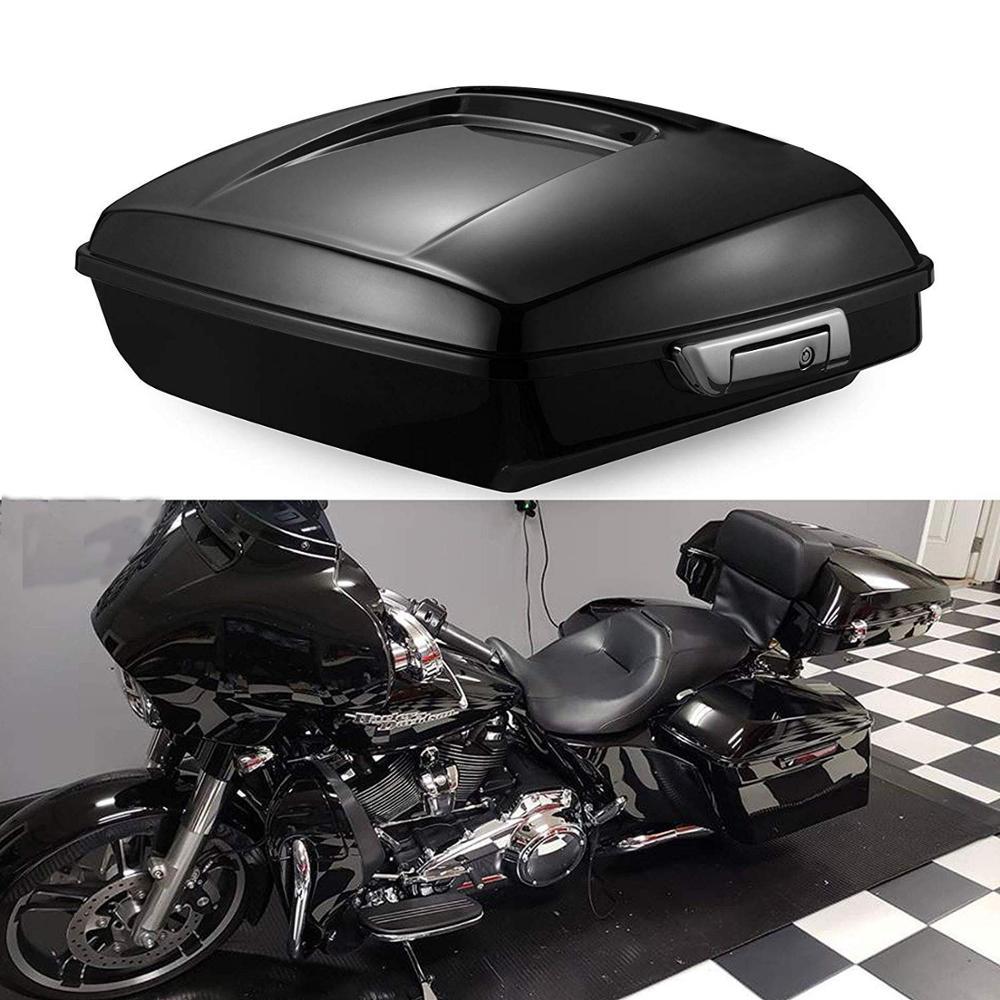 Trunk Mount for Harley Davidson Tour Pack Pak Black Latches Razor Chop BLACK