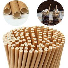 50 unids/set de pajitas de papel desechables para Baby Shower boda fiesta cumpleaños suministros de decoración para fiesta Vintage pajitas para beber
