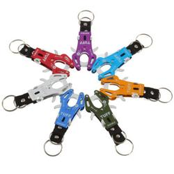1Pc Fashion Delicate Climb Hook Carabiner Clip Lock Ring Keychain Key Keyring Durable Multicolor Chain